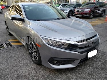 Honda Civic 4P TURBO PLUS SEDAN CVT 1.5T 174 HP PIEL QC GPS R usado (2016) color Plata precio $285,000