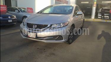 Honda Civic EX usado (2014) color Plata Diamante precio $215,000