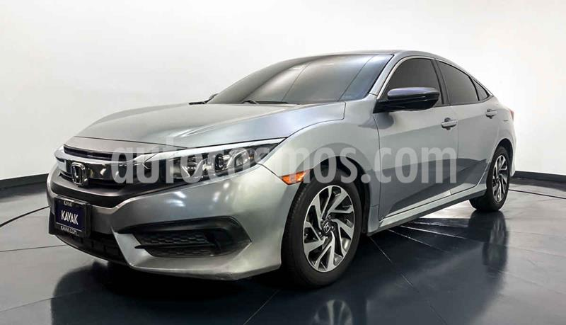 Honda Civic EX 1.8L Aut usado (2015) color Plata precio $249,999