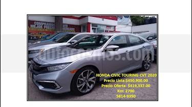 Honda Civic Touring Aut usado (2020) color Plata precio $419,337