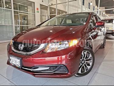 Honda Civic EX usado (2014) color Rojo Camelia precio $160,000