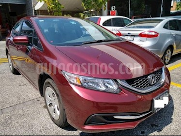 Honda Civic 4P LX SEDAN AT CD R-15 usado (2014) color Rojo precio $173,000