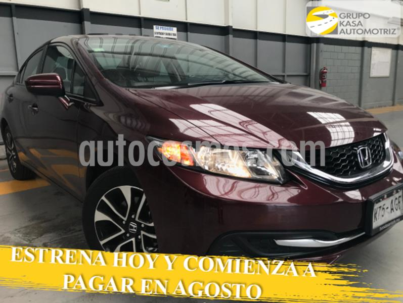 Honda Civic EXL 1.8L Aut usado (2015) color Rojo precio $220,000