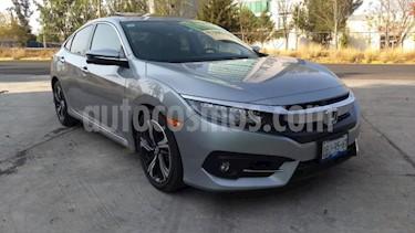 Honda Civic 4P TOURING CVT 1.5T 174 HP PIEL QC SPOILER F. NIE usado (2018) color Gris precio $348,000