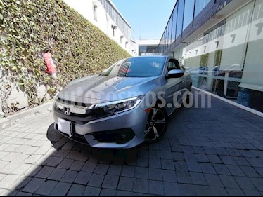 Honda Civic 2P COUPE TURBO CVT 1.5T 174 HP QC RA-17 usado (2017) color Plata precio $270,000