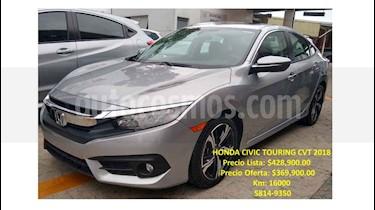 Honda Civic 4 pts. Touring usado (2018) color Plata precio $369,900