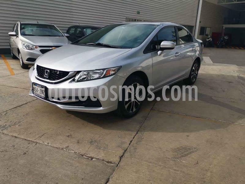 Honda Civic EX 1.8L usado (2014) color Plata precio $175,000