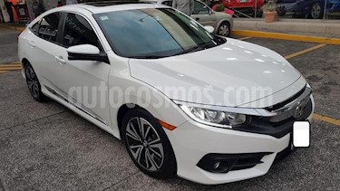 Foto Honda Civic 4P TURBO PLUS SEDAN CVT 1.5T 174 HP PIEL QC GPS R usado (2016) color Blanco precio $305,000