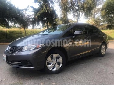 Honda Civic 4P LX SEDAN TM5 CD R-15 usado (2014) color Gris precio $160,000
