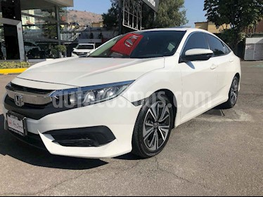 Honda Civic 4p Turbo Plus L4/1.5/T Aut usado (2018) color Blanco precio $348,000