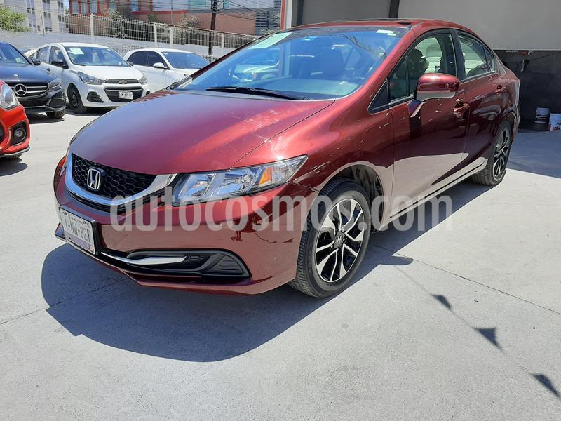 Honda Civic EX usado (2014) color Rojo Camelia precio $210,000