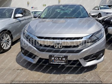 Foto venta Auto usado Honda Civic Touring Aut (2018) color Plata Diamante precio $385,000