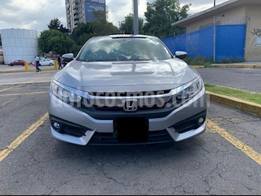Honda Civic Turbo Plus Aut usado (2016) color Plata Diamante precio $305,000