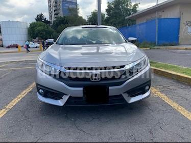 Honda Civic Turbo Plus Aut usado (2016) color Plata Diamante precio $305,000