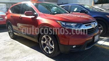 Honda CR-V 5P TURBO PLUS 1.5T CVT PIEL RA-18 usado (2018) color Rojo precio $400,000