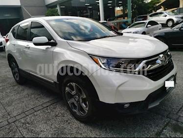 Honda CR-V 5P TURBO PLUS 1.5T CVT PIEL RA-18 usado (2017) color Blanco precio $389,000