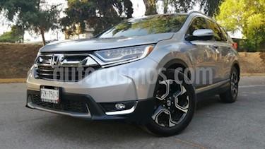 Honda CR-V 5P TOURING 1.5T CVT PIEL QC F.LED RA-18 usado (2018) color Plata precio $469,000
