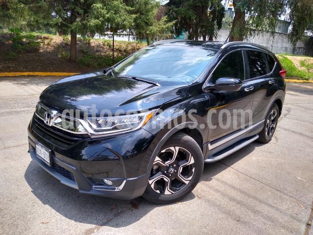 Honda CR-V 5P TOURING 1.5T CVT PIEL QC F.LED RA-18 usado (2019) color Negro precio $460,000