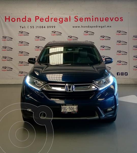 Honda CR-V Turbo Plus usado (2018) color Azul precio $399,000
