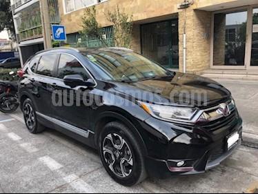 Honda CR-V 5P TOURING 1.5T CVT PIEL QC F.LED RA-18 usado (2017) color Negro precio $415,000