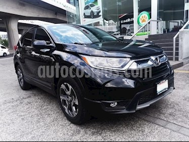 Honda CR-V 5P TURBO PLUS 1.5T CVT PIEL RA-18 usado (2018) color Negro precio $448,000