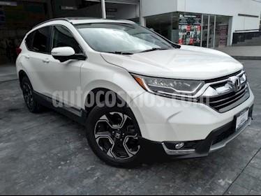 Honda CR-V 5P TOURING 1.5T CVT PIEL QC F.LED RA-18 usado (2017) color Blanco precio $392,000