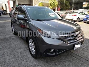Honda CR-V 5P EXL TA A/AC. AUT. QC PIEL 6 CD F. NIEBLA RA 4X usado (2012) color Gris precio $208,000