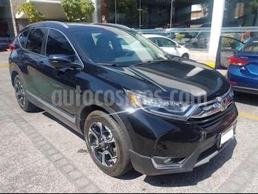 Honda CR-V 5P TOURING 1.5T CVT PIEL QC F.LED RA-18 usado (2017) color Negro precio $420,000