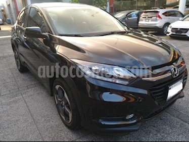 Honda HR-V 5P TOURING CVT PIEL QC F. LED RA-17 usado (2018) color Negro precio $369,000