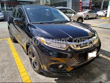 Honda HR-V 5P TOURING CVT PIEL QC F. LED RA-17 usado (2019) color Negro precio $394,000