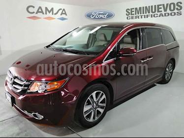 Honda Odyssey 5p Touring V6/3.5 Aut usado (2016) color Vino Tinto precio $424,500