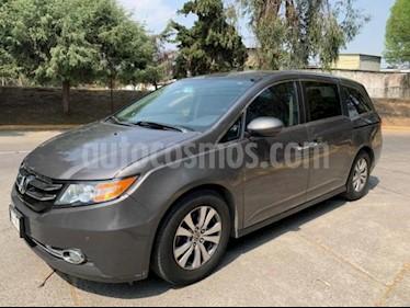Honda Odyssey 5P EXL TA A/AC. AUT. CD DVD F. HALOGENO RA-18 usado (2014) color Gris precio $279,000