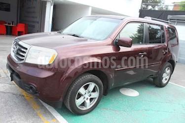 Honda Pilot 5p EX aut 4x2 a/a ee usado (2012) color Vino Tinto precio $175,000