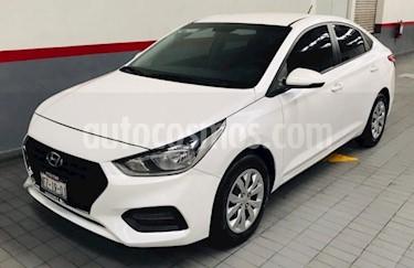 Hyundai Accent 4p GL L4/1.6 Man usado (2018) color Blanco precio $193,000