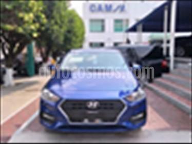 Hyundai Accent GL Mid usado (2018) color Azul Electrico precio $215,900