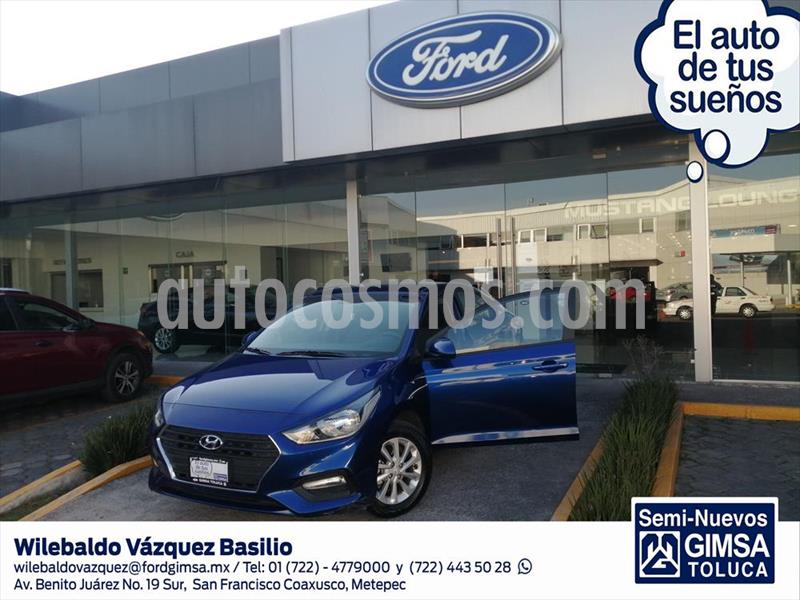 Hyundai Accent GL MID TM usado (2020) color Azul Marino precio $228,000