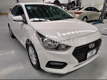 Hyundai Accent 4P GL MID 1.6L TM6 A/AC. VE DEL. CAMARA REVERSA R usado (2018) color Blanco precio $197,000