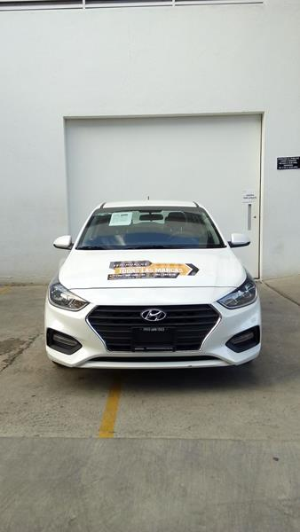 Hyundai Accent GL Mid Aut usado (2018) color Blanco precio $203,000