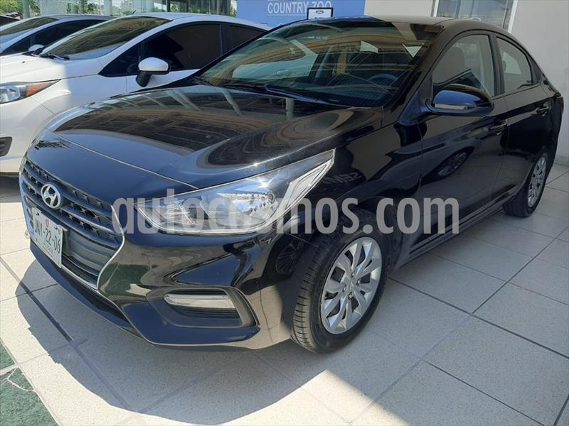 Hyundai Accent GL MID TM usado (2018) color Negro precio $198,000