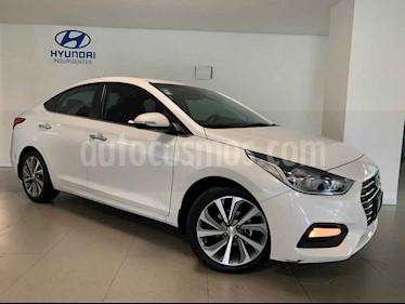 Hyundai Accent 4p GLS L4/1.6 Aut usado (2018) color Blanco precio $241,000