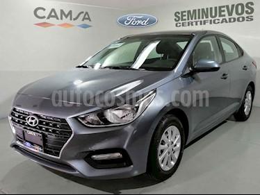 Hyundai Accent 4p GL Mid  L4/1.6 Aut usado (2018) color Gris precio $216,900