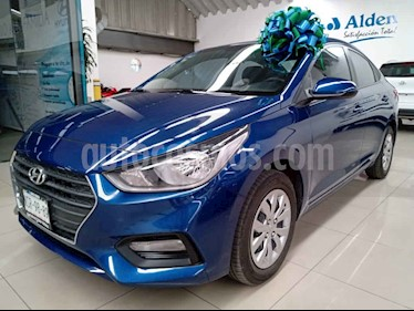 Hyundai Accent 4p GL L4/1.6 Aut usado (2018) color Azul precio $208,000