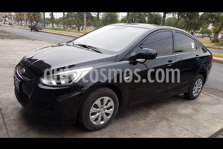 Hyundai Accent 1.4L GL Basico usado (2017) color Negro precio u$s10,600