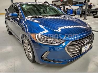 Hyundai Elantra 4P LIMITED TECH 2.0L TA A/AC. AUT. PIEL XENON GPS usado (2018) color Azul precio $268,000