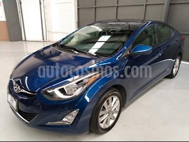 Hyundai Elantra 4P GLS PREMIUM L4/1.8 AUT usado (2016) color Azul precio $195,000