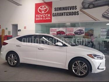 Hyundai Elantra 4P LIMITED TECH 2.0L TA A/AC. AUT. PIEL XENON GPS usado (2018) color Blanco precio $270,000