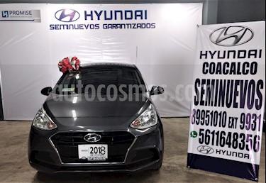 Foto venta Auto usado Hyundai Grand i10 GL MID (2018) color Gris precio $179,900