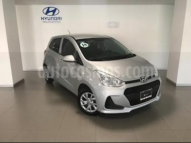 Foto venta Auto usado Hyundai Grand i10 GL MID (2018) color Plata precio $169,000