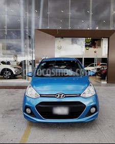 Foto venta Auto usado Hyundai Grand i10 GLS Aut (2017) color Aqua precio $160,000