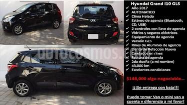 Hyundai Grand i10 GLS Aut usado (2017) color Negro precio $148,000